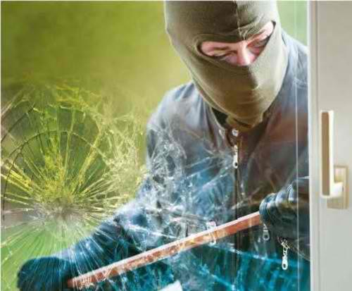Safety window tinting film - stop burglars